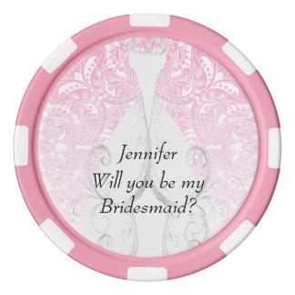 Usted será mi diseño el | Zazzle de la dama de Fichas De Póquer