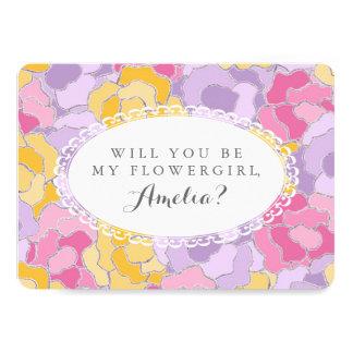 """¿""""Usted será mi florista? """"Invitación floral Invitación 5"""" X 7"""""""