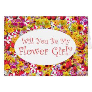 ¿Usted será mi florista? Tarjeta