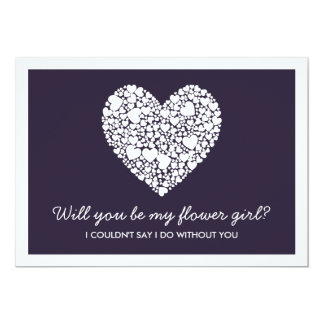"""¿Usted será mi florista? Tarjeta de Purple Heart Invitación 5"""" X 7"""""""