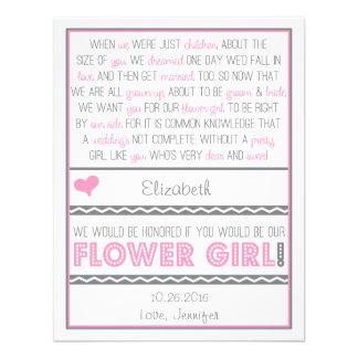 ¿Usted será mi florista Tarjeta rosada gris del p