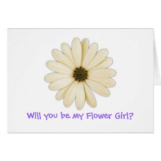 """""""Usted será mi florista?"""" Tarjetas de felicitación"""