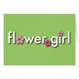 ¿Usted será mi Flowergirl? Tarjeta