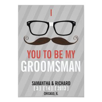 Usted será mi friki del padrino de boda que los invitación 12,7 x 17,8 cm