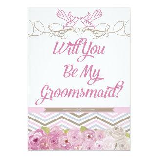 Usted será mi invitación de Groomsmaid
