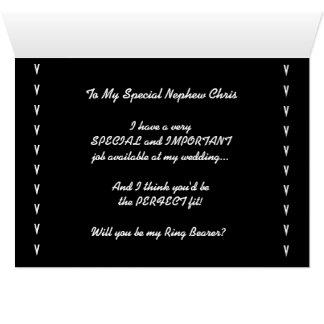 Usted será mi invitación V4 del boda del portador Tarjeta De Felicitación