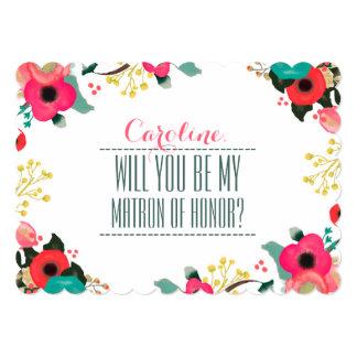 """¿Usted será mi matrona del honor? Invitaciones de Invitación 5"""" X 7"""""""