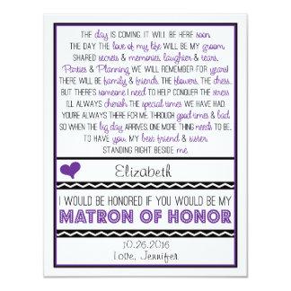 ¿Usted será mi matrona del honor? Poema Comunicado