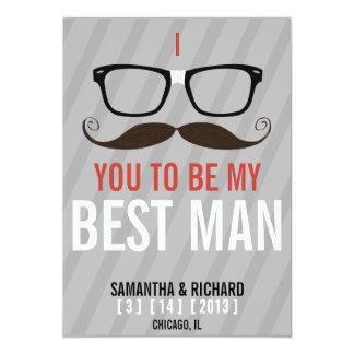Usted será mi mejor friki del hombre que los invitación 12,7 x 17,8 cm