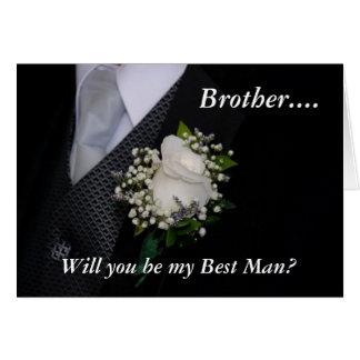 Usted será mi mejor hombre Brother Tarjeton