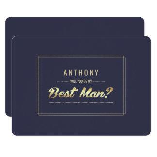 """¿Usted será mi mejor hombre? Invitaciones de Invitación 5"""" X 7"""""""