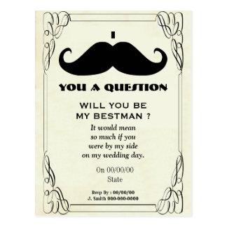 usted será mi mejor hombre, sea mi mejor hombre tarjetas postales