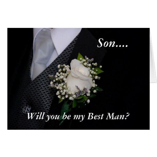 Usted será mi mejor hombre tarjeton