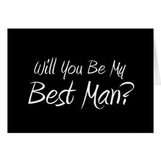 ¿Usted será mi mejor hombre Tarjeta