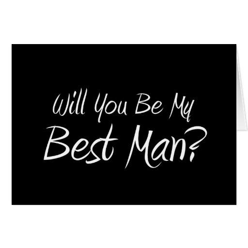 ¿Usted será mi mejor hombre? Tarjeta