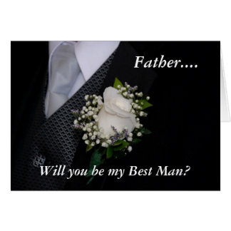 Usted será mi mejor padre del hombre tarjetón