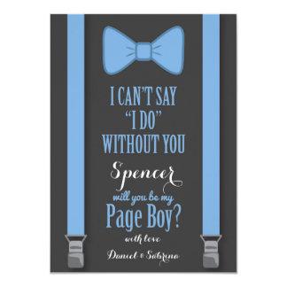 """Usted será mi muchacho de la página - apoyos invitación 4.5"""" x 6.25"""""""