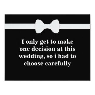 """¿Usted será mi padrino de boda? Invitación 4.25"""" X 5.5"""""""