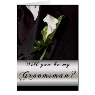 ¿Usted será mi padrino de boda? Tarjeta De Felicitación