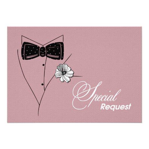 ¿Usted será mi padrino de boda? Tarjetas adaptable Invitación Personalizada