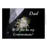 Usted será mi papá del padrino de boda felicitaciones
