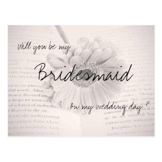 Usted será mi postal del boda de la dama de honor
