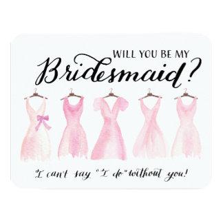 """Usted será mi rosa de los vestidos de la dama de invitación 4.25"""" x 5.5"""""""