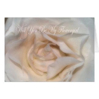 Usted será mi tarjeta de Flowergirl