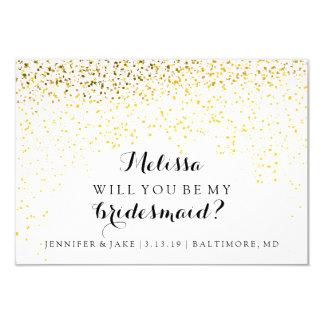 """Usted será mi tarjeta de la dama de honor - invitación 3.5"""" x 5"""""""