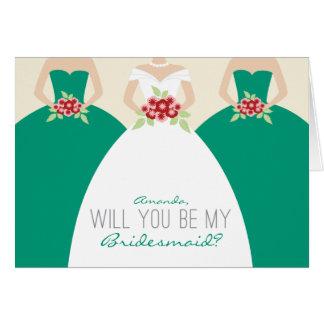 Usted será mi tarjeta de la dama de honor (la esme