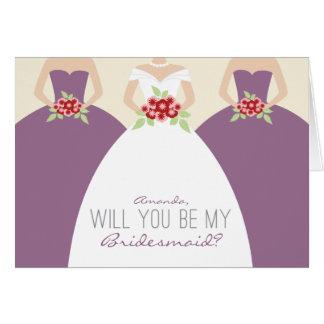 Usted será mi tarjeta de la dama de honor (la lava