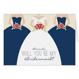 Usted será mi tarjeta de la dama de honor (los azu