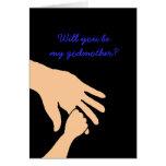 usted será mi tarjeta de la madrina en azul
