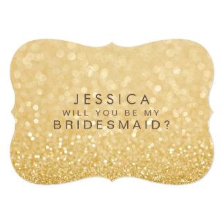 Usted será mi tarjeta del brillo del oro de la invitación 12,7 x 17,8 cm