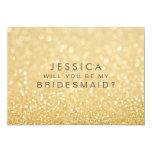 """Usted será mi tarjeta del brillo del oro de la invitación 5"""" x 7"""""""