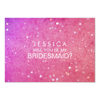 Usted será mi tarjeta del brillo del rosa de la invitación 12,7 x 17,8 cm
