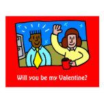 ¿Usted será mi tarjeta del día de San Valentín? 1 Tarjeta Postal