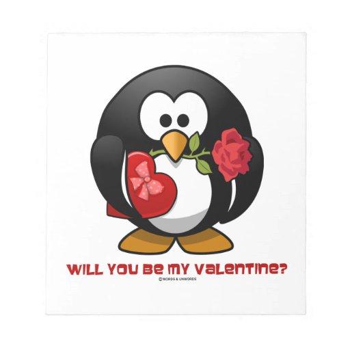 ¿Usted será mi tarjeta del día de San Valentín? (C Bloc De Papel