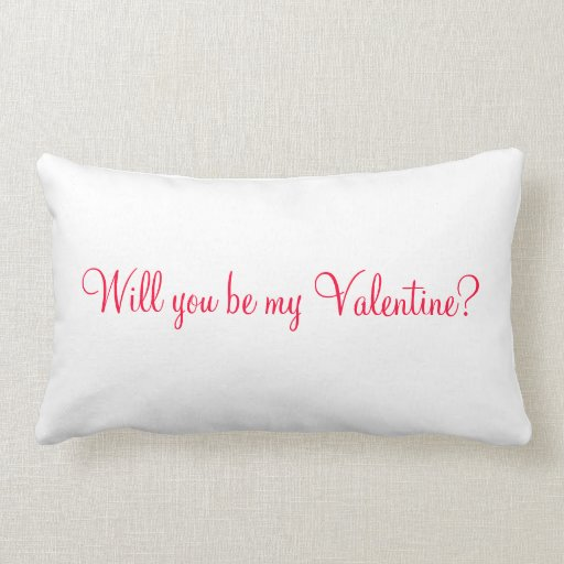 usted será mi tarjeta del día de San Valentín Almohada