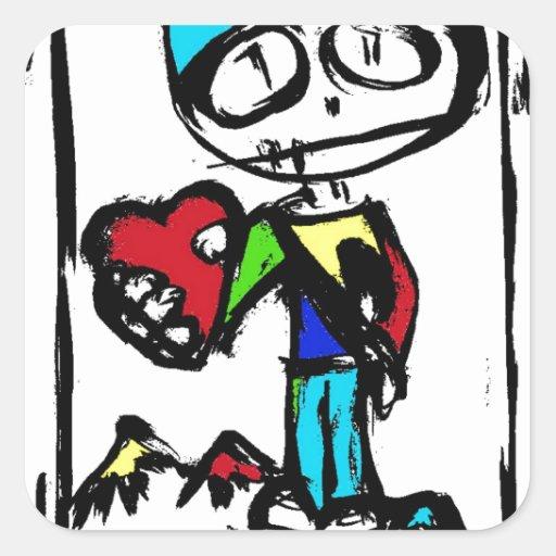 Usted será mi tarjeta del día de San Valentín este Pegatina Cuadrada