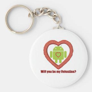 ¿Usted será mi tarjeta del día de San Valentín? (F Llavero Redondo Tipo Pin