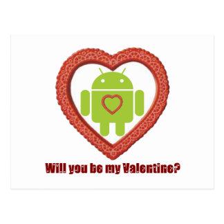 ¿Usted será mi tarjeta del día de San Valentín? (F Postales