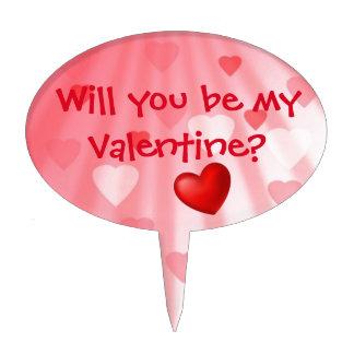¿Usted será mi tarjeta del día de San Valentín? - Figura De Tarta
