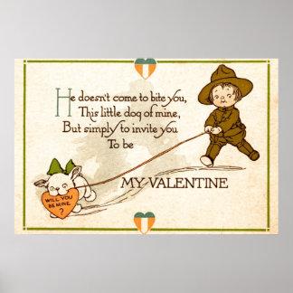 ¿Usted será mi tarjeta del día de San Valentín? Impresiones