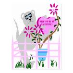 ¿Usted será mi tarjeta del día de San Valentín? Postales