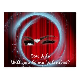 ¿Usted será mi tarjeta del día de San Valentín? Tarjeta Postal