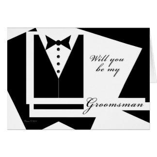 Usted será mi tarjeta del padrino de boda