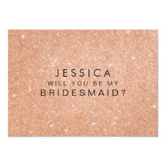 """Usted será mi tarjeta subió dama de honor del invitación 5"""" x 7"""""""