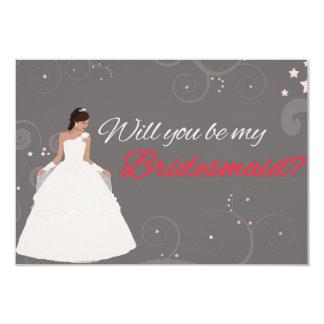 """Usted será mi vestido de lujo blanco de la tarjeta invitación 3.5"""" x 5"""""""