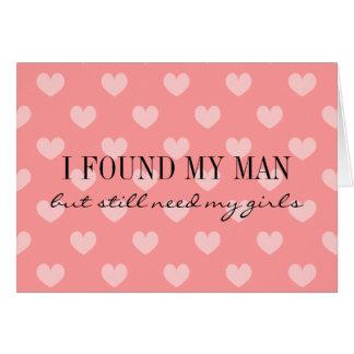 Usted será mis corazones rosados coralinos de la tarjeta pequeña